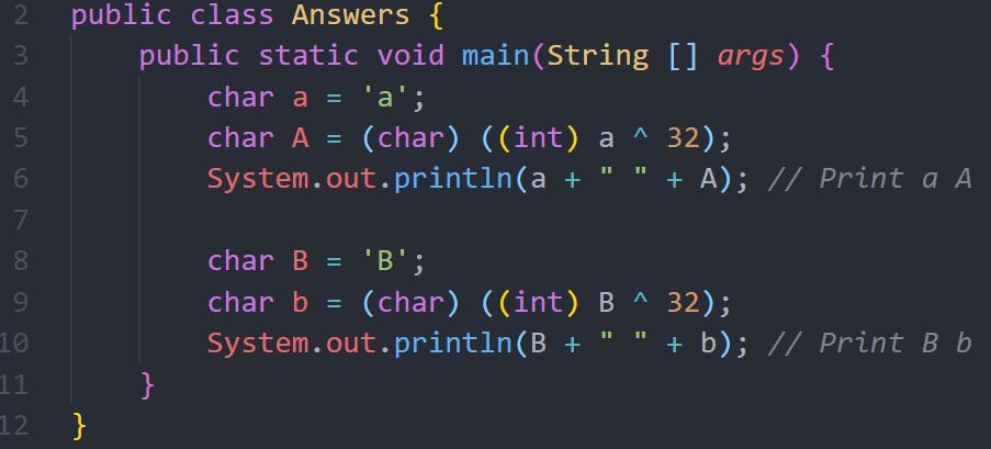 كيف يمكن تحويل حرف من Upper Case الى Lower Case والعكس أيضاً، بدون استخدام دالة جاهزة؟